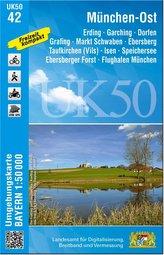 München-Ost Dorfen -  Ebersberg - Erding 1 : 50 000 (UK50-42)
