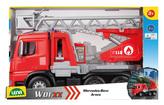 Mercedes Arocs hasič s žebříkem, okrasný kartón