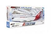 Letadlo plast 40cm na setrvačník na baterie se zvukem se světlem v krabici 45x20x7cm