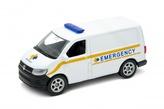 Welly Volkswagen Transporter T6 Van 1:34 emergency bílé