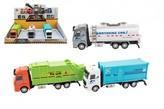 Kamion kov/plast 20-23cm na zpětné natažení 1 ks / 3 druhy
