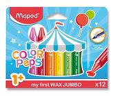 Maped - Voskové pastelky Wax Early Age Jumbo 12 ks