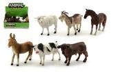 Zvířátka domácí farma plast 12cm mix druhů