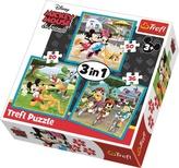 Puzzle Mickey Mouse a přátelé 3v1