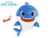 Baby Shark plyšový 28cm modrý na baterie se zvukem 12m+ v sáčku