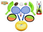 Sportovní sada 2-Play 11ks v síťovaném batohu