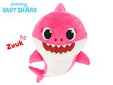 Baby Shark plyšový 28cm růžový na baterie se zvukem 12m+ v sáčku