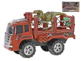 Auto přepravník 44cm na setrvačník s dinosaurem 24cm v krabičce