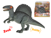 Dinosaurus Spinosaurus 24cm na baterie se světlem a zvukem v krabičce