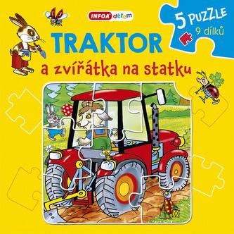 Traktor a zvířátka na statku