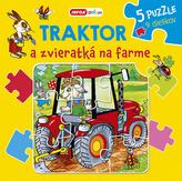 Traktor a zvieratká na farme