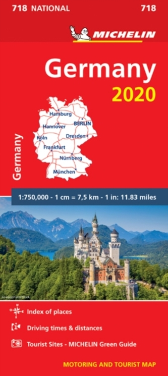 Germany 2020 - Michelin National Map 718