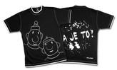 Tričko krátký rukáv černá - pánská kolekce Pat a Mat - velikost XL