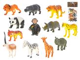 Zvířátka safari 7-12cm 12ks v sáčku