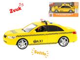 Auto taxi 24cm 1:16 na setrvačník na baterie se světlem a zvukem v krabičce