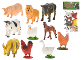 Zvířátka farma 9-10cm 12ks v sáčku