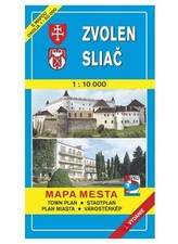Zvolen Sliač Mapa mesta Town plan Stadtplan Plan miasta Várostérkép