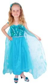 Dětský kostým princezna Zimní království Eliška DELUXE (S)