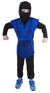 Dětský kostým NINJA modrý (S)