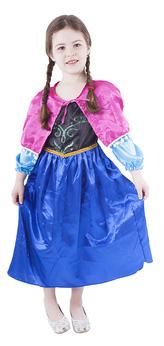 Dětský kostým princezna zimní království (M) 6-8 let (110-128 cm)