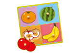 Dřevěná vkládačka - ovoce