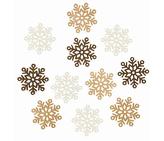 Dekorace vánoční dřevěná - Vločky 4 cm, 12 ks, 3824
