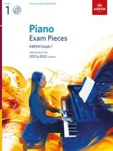 Piano Exam Pieces 2021 & 2022, ABRSM Grade 1, with CD