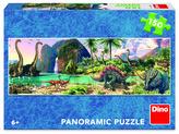 Puzzle 150 Dinosauři u jezera