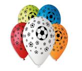 Balónky OBYČ. Fotbalový míč, 5ks