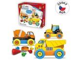 Malý mechanik plastový Junior - stavební auta