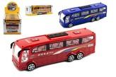 Autobus plast 25cm na setrvačník 3 barvy v krabici 26x8,5x7cm