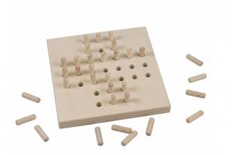 Solitér dřevěná hra ve fólii 10x10cm