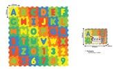 Pěnové puzzle Čísla a písmena 36 ks