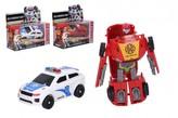 Transformer auto/robot plast 12cm 3 barvy v krabičce 15,5x15x6cm