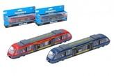 Metro/vlak/tramvaj kov/plast 18cm na volný chod 3 barvy v krabičce 21,5x10x4cm