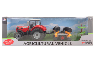 Traktor s diskovým kypřičem půdy