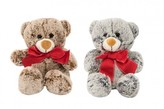 Medvěd sedící s mašlí plyš 18cm 2 barvy 0+