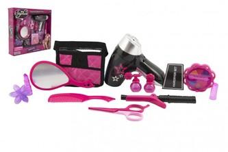 Sada krásy kadeřnice/kosmetička plast 2 druhy v krabici 34x31x7cm