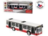 Autobus kovový na zpětný chod, 16cm