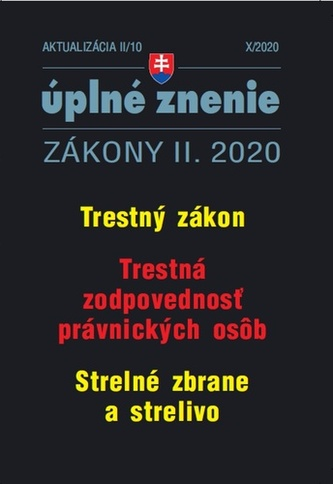 Aktualizácia II/10 2020 – Trestné právo