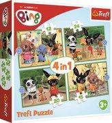 Puzzle Bingův šťastný den 4v1