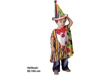 Kostým na karneval - Malý klaun, 92-104 cm