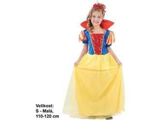 Kostým na karneval - Sněhurka, 110-120 cm