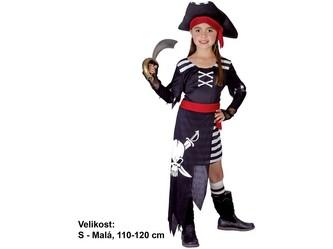 Kostým na karneval - Pirátka, 110-120 cm