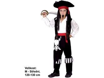 Kostým na karneval - Pirát, 120-130 cm