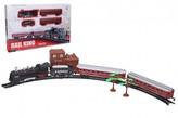 Vlak + 3 vagony s kolejemi plast 103,5x67,5cm na baterie se světlem se zvukem v krabici 47x32x4cm