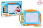 Magnetická kreslící tabulka barevná s razítky plast 40x30cm v krabici 41x32x4,5cm