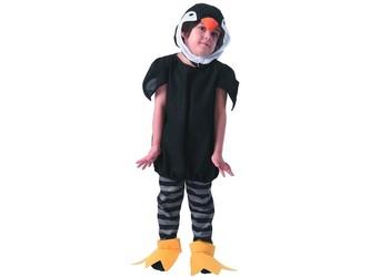 Šaty na karneval - tučňák, 92 - 104 cm