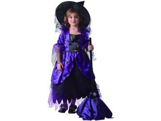 Šaty na karneval - čarodějnice, 92 - 104 cm