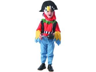 Šaty na karneval - papoušek, 92 - 104 cm